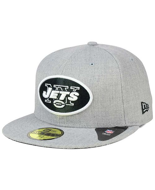 52ebc81033a New Era New York Jets Heather Black White 59FIFTY Fitted Cap ...