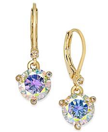 Gold-Tone Crystal Drop Earrings