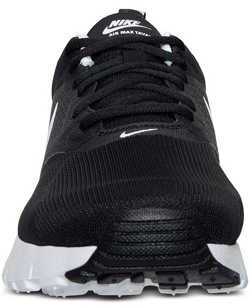 buy popular db50a afcdb ... Nike Big Boys  Air Max Tavas Running Sneakers from Finish ...