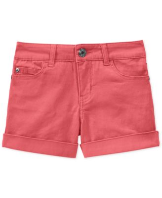 Image of Celebrity Pink Cuffed Colored Denim Shorts, Big Girls (7-16)