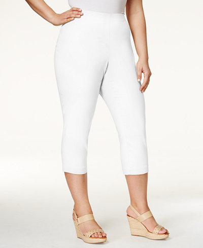 Style & Co Plus Size Capri Pants, Created for Macy's - Women - Macy's