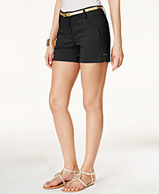 Thalia Sodi Belted Shorts, Created for Macy's