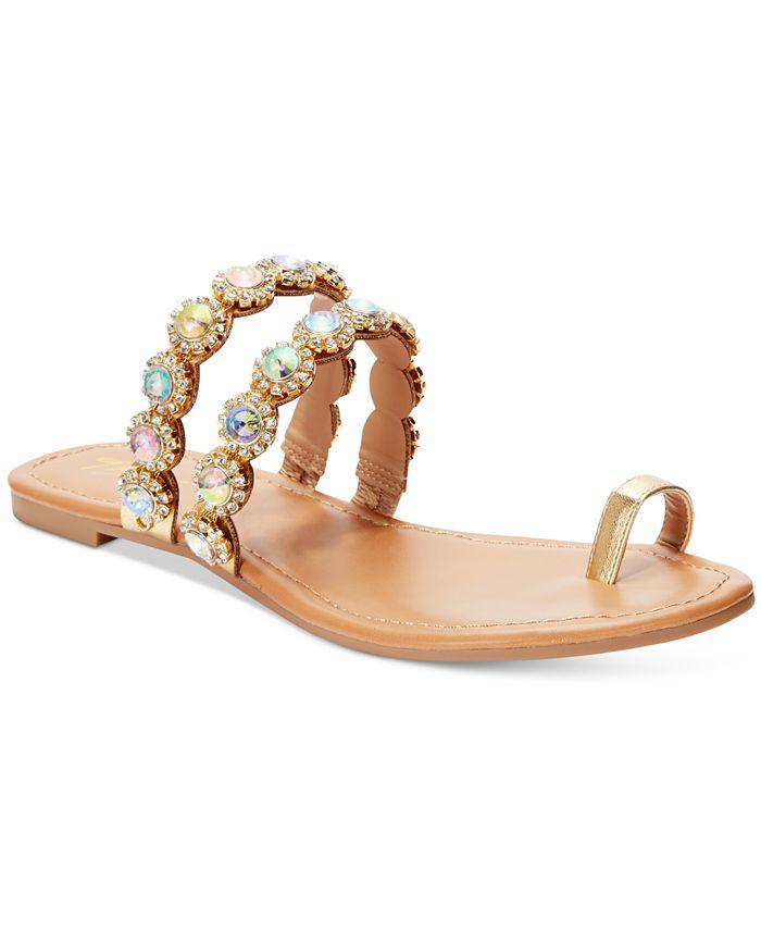 Thalia Sodi - Joya Toe Ring Flat Sandals