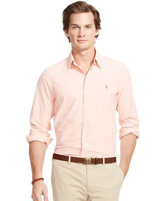 Polo ralph lauren men 39 s long sleeve oxford shirt casual for Polo ralph lauren casual button down shirts