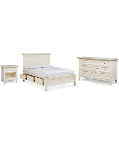 bedroom furniture with storage. Sanibel Storage Platform Bedroom Furniture 3 Pc  Set California King Bed Dresser and Nightstand Collection Created for