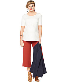 A Pea In The Pod Maternity Wide-Leg Crop Pants