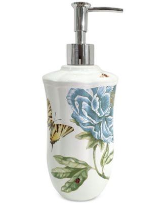Blue Floral Garden Lotion Dispenser