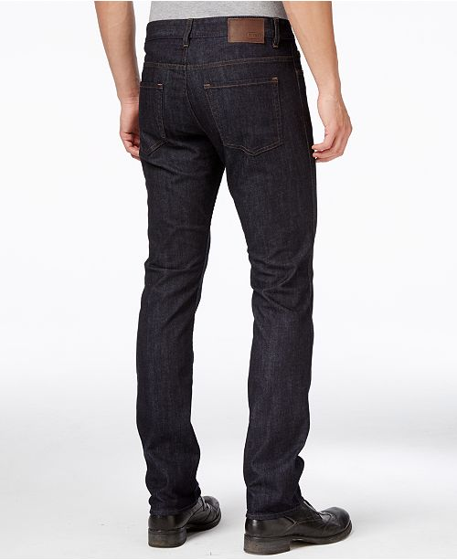 a5e2dd99 Hugo Boss Boss Men's Delaware Navy Blue Wash Jeans & Reviews ...