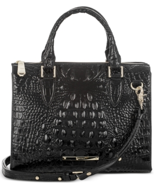 Image of Brahmin Anywhere Convertible Melbourne Embossed Leather Satchel