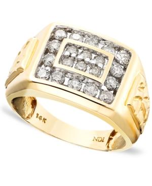 Men's 14k Gold Ring, Diamond (1 ct. t.w.)