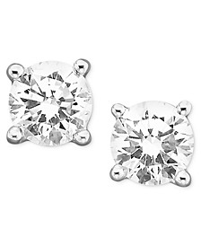 Certified Colorless Diamond Stud Earrings in 18k White Gold (1/3 ct. t.w.)