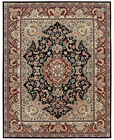 "Nourison Wool & Silk 2000 2005 Black 2'6"" x 4'3"" Area Rug"