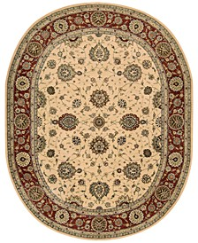 "Wool and Silk 2000 2204 7'6"" x 9'6"" Oval Rug"