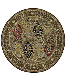 Nourison Wool & Silk 2000 2292 Multicolor 6' Round Rug
