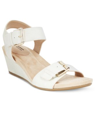 Image of Giani Bernini Bryana Memory Foam Wedge Sandals, Only at Macy's