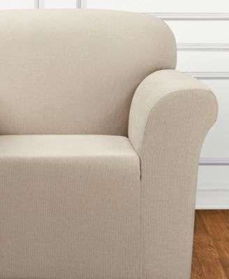 sure fit ultimate stretch chenille onepiece chair slipcover