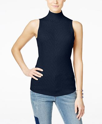 INC International Concepts Sleeveless Mock-Neck Sweater, Created ...