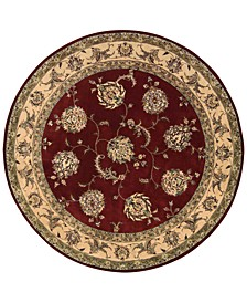 Wool and Silk 2000 2022 Lacquer 4' Round Rug
