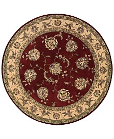 Nourison Round Area Rug, Wool & Silk 2000 2022 Lacquer 4'