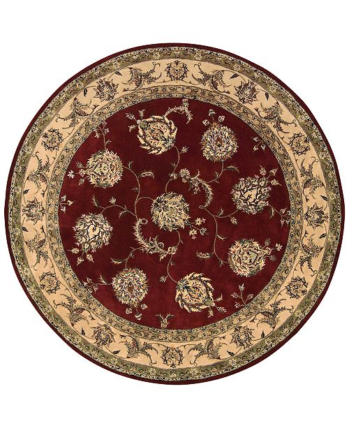 Nourison Round Area Rug, Wool & Silk 2000 2022 Lacquer 6'