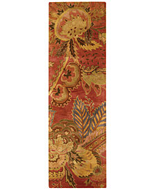 "Nourison Area Rug, Rajah Collection JA43 Nasi Flame 2'4"" x 8' Runner Rug"