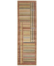 "CLOSEOUT! Nourison Area Rug, Somerset ST17 Lines Multicolor 2' 3"" x 8' Runner Rug"