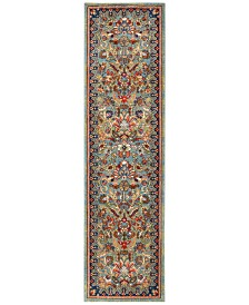 "Karastan Spice Market Tigris Aquamarine 2'4"" x 7'10"" Runner Rug"