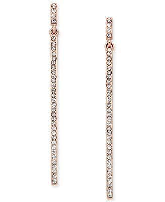 INC International Concepts Pavé Stick Linear Drop Earrings, Created for Macy's