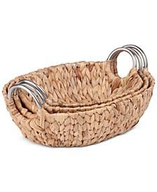 3-Pc. Oval Basket Set