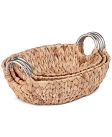 Honey Can Do 3-Pc. Oval Basket Set