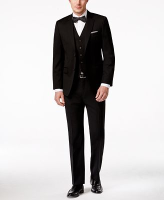 Lauren Ralph Lauren Slim-Fit Vested Black Wool Suit - Suits & Suit ...