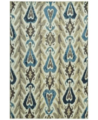 "CLOSEOUT! Menagerie MEN104 Ivory 3'3"" x 5'1"" Area Rug"