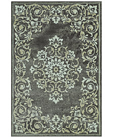 "CLOSEOUT! D Style Menagerie MEN185 Grey 3'3"" x 5'1"" Area Rug"