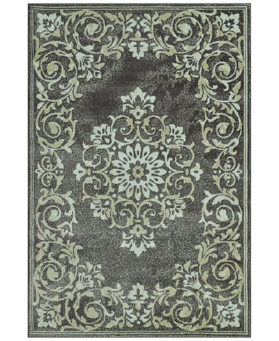 CLOSEOUT! D Style Menagerie MEN185 Grey Area Rugs