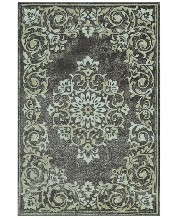 """D Style CLOSEOUT! Menagerie MEN185 Grey 3'3"""" x 5'1"""" Area Rug"""