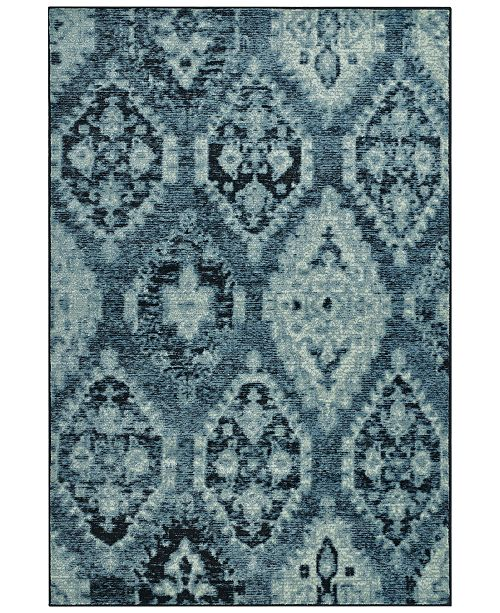 "D Style CLOSEOUT! Menagerie MEN8444 Denim 4'11"" x 7'5"" Area Rug"