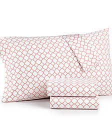 Charter Club Damask Designs Printed Geo King 4-pc Sheet Set, 500 Thread Count, Created for Macy's