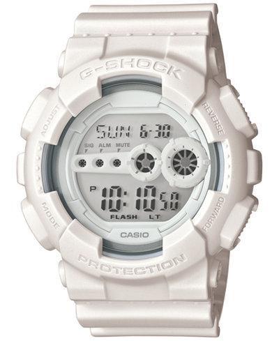 g shock men s digital whiteout white strap watch 55x51mm gd100ww g shock men s digital whiteout white strap watch 55x51mm gd100ww 7s