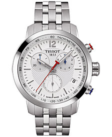 Tissot Men's Swiss Chronograph NBA PRC 200 Stainless Steel Bracelet Watch 42mm T0554171101701