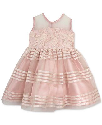 Rare Editions Baby Girls Soutache & Stripes Dress Kids