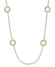 The Fifth Season by Roberto Coin 18k Gold-Plated Sterling Silver 6-Station Circle Necklace 557830SJ3900