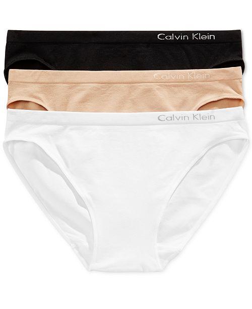 80b90bff62c5 Calvin Klein Seamless Bikini 3-Pack QD3564 & Reviews - Bras, Panties ...