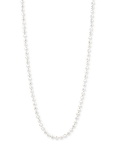 Anne Klein Gold-Tone Imitation Pearl Long Length Necklace