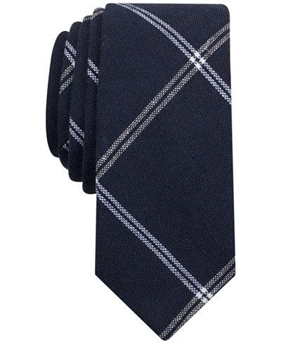 Original Penguin Men's Avenue Plaid Skinny Tie