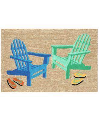 Liora Manne Front Porch Indoor/Outdoor Adirondack Seaside 2' x 3' Area Rug