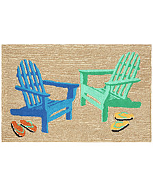 Liora Manne Front Porch Indoor/Outdoor Adirondack Seaside 2' x 3' Area Rug