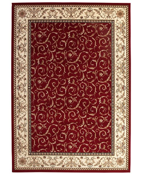 Km Home Closeout Roma Damask Red 3 Pc Rug Set Amp Reviews