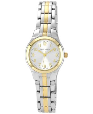 Image of Anne Klein Watch, Women's Two Tone Bracelet 28x26mm 10-5491SVTT