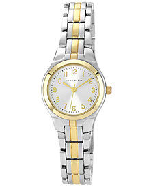Anne Klein Women's Two Tone Bracelet Watch 28x26mm
