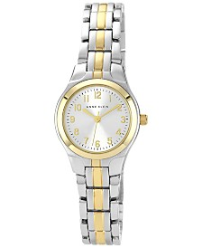 Anne Klein Women's Two Tone Bracelet Watch 28x26mm 10-5491SVTT